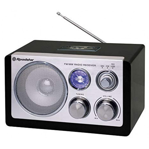 ROADSTAR HRA-1325US/BK Ραδιοφωνα Black