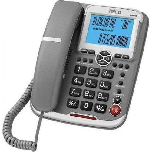 TELCO GCE 6122 Ενσυρματα Τηλεφωνα Grey