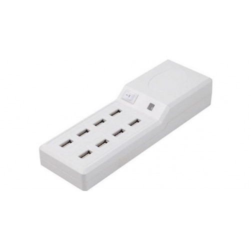 Πολυφορτιστής με 8 θύρες USB PLATINET 74182 USB 8PORT CHARGER 5V 10A White