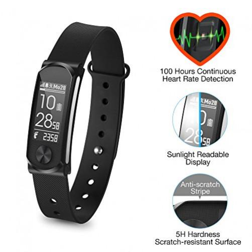Q-BAND Q-68HR Smartwatches Black