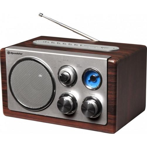ROADSTAR HRA-1345US USB/SD/MP3 Wood Micro-Mini Hifi