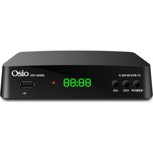 OSIO OST-2660D H.265/T2/HEV Αποκωδικοποιητές Mpeg4