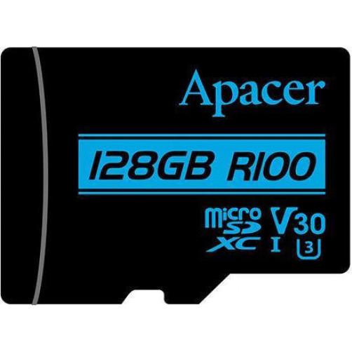 Κάρτες SD/MicroSD APACER V30 R100 128GB Class10 Micro SDXC UHS-I U3