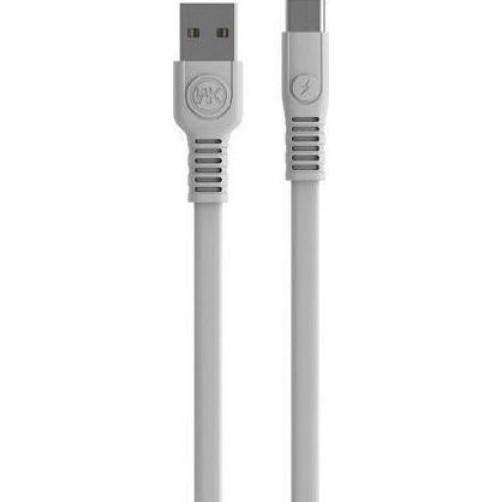 Καλώδιο γρήγορης φόρτισης WK Micro usb Λευκό 1m WDC-066