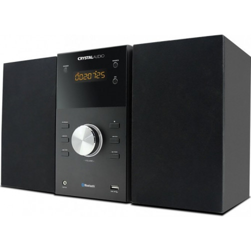 CRYSTAL AUDIO HBT-1 BLUETOOTH Micro-Mini Hifi Black
