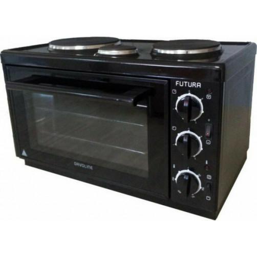 DAVOLINE EC 450 CHEF BL Φουρνάκια, Κουζινάκια Black