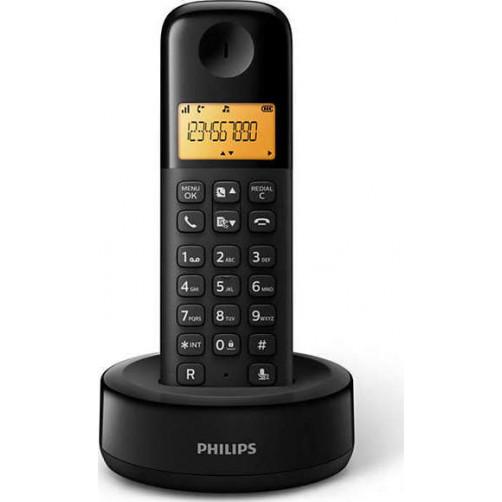 PHILIPS D1601B/34 Ασύρματα Τηλέφωνα Black