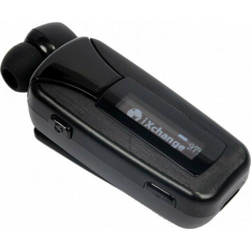 iXCHANGE BT Headset LCD UA51 Pro Bluetooth Handsfree Retractable with Vibration Black