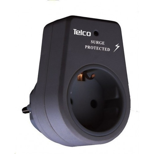 Telco KF-GZBD01/01 20.347 Πρίζα με Προστασία Ρεύμαος Μαύρη