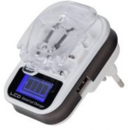 QUER Φορτιστής Li-ion / Li-poly με θύρα USB και οθόνη 76290