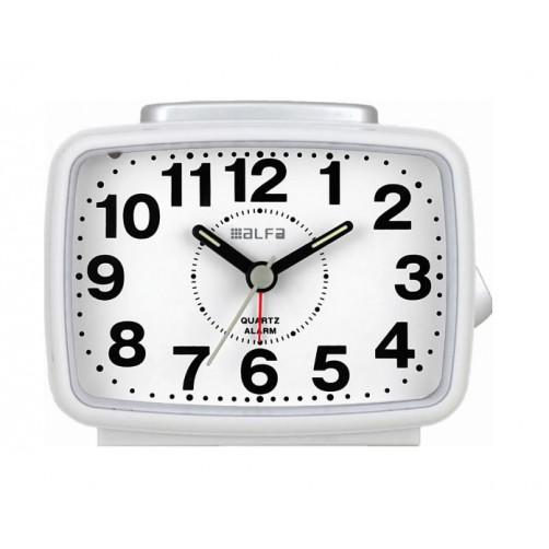 ALFAONE 2816 Ρολόι-Ξυπνητήρι White