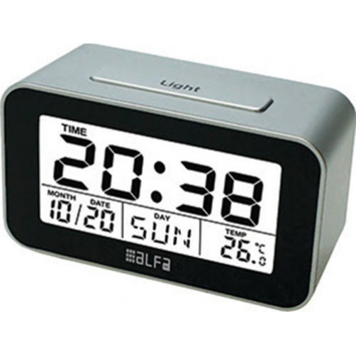 ALFAONE ET622A Ρολόι-Ξυπνητήρι Ψηφιακό Black-Silver