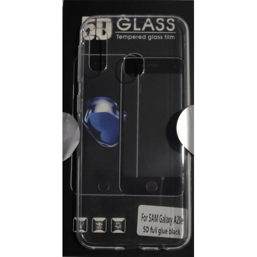 FRIENDS SAMSUNG A20e Set Θήκη σιλικόνης και Full Face Glue Tempered Glass