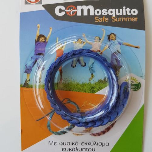 Αντικουνουπικό βραχιολάκι με φυσικο εκχύλισμα ευκάλυπτου COMosquito Safe Summer Μπλε