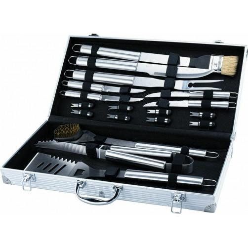 Σετ Εργαλεία BBQ 16τμχ σε INOX Βαλίτσα BORMANN BBQ1015 (033349)