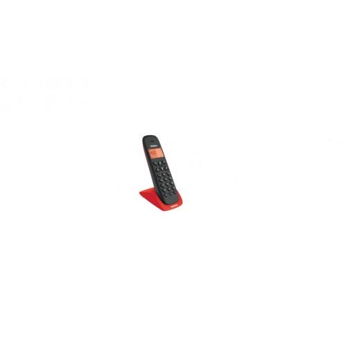 UNIDEN AT-3102 Μαύρο-Κόκκινο Ασύρματα Τηλέφωνα